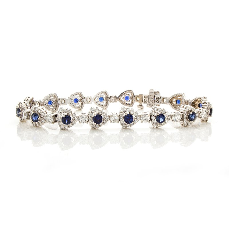 William Levine SAPPIRE AND DIAMOND BRACELET
