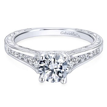 Vintage Channel Set Engagement Ring