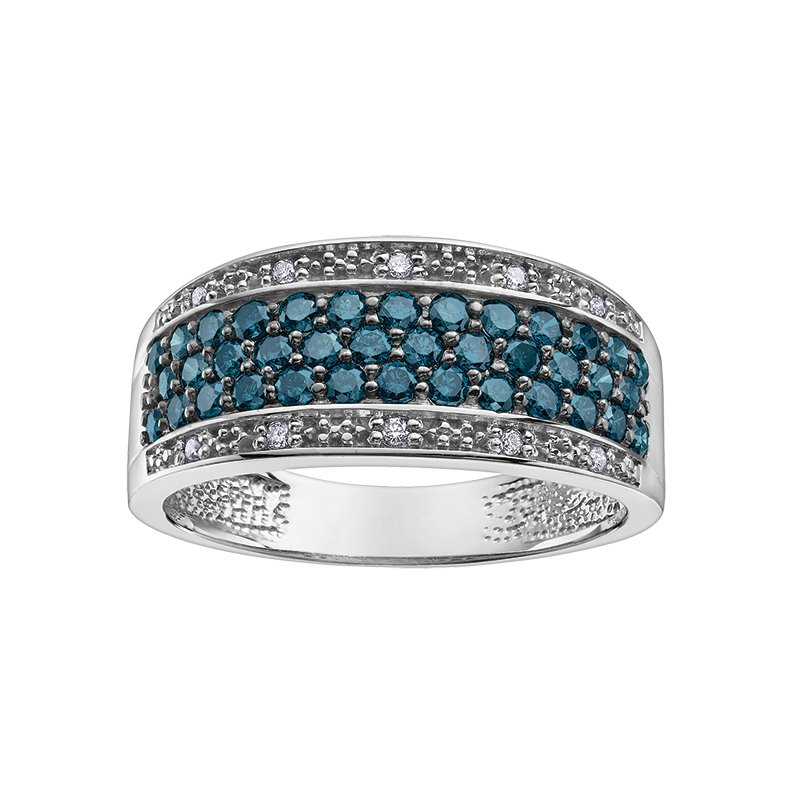 Diamond Days Enhanced Col.blue Diamond Anniversary Ring