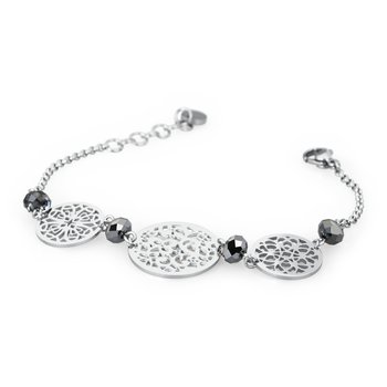 316L stainless steel and silver night Swarovski® Elements stones