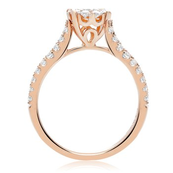 Rose Gold Diamond Cluster Ring