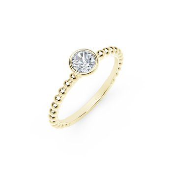 Forevermark Tribute Yellow Gold Diamond Stackable Ring