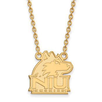 Gold Northern Illinois University NCAA Necklace