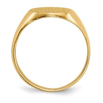14k 10.5x12mm Closed Back Signet Ring
