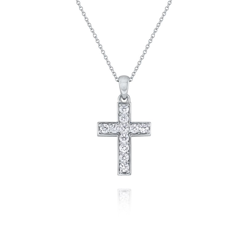 KC Designs 14K Diamond Cross Necklace
