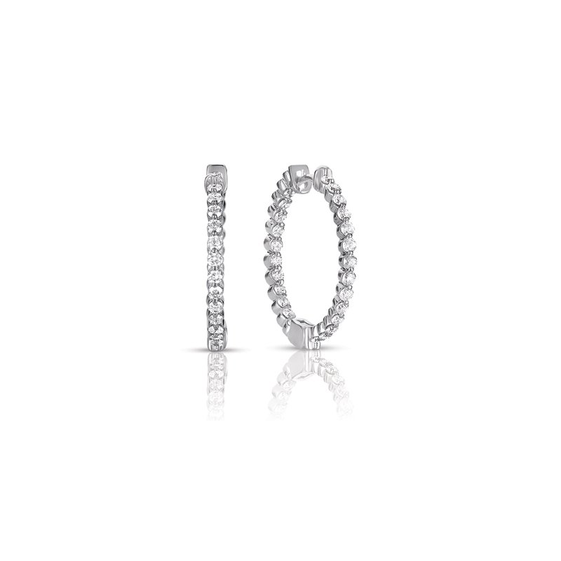 S. Kashi  & Sons White Gold Hoop Earring
