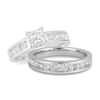 18K WG Diamond Channel Set Wedding Band
