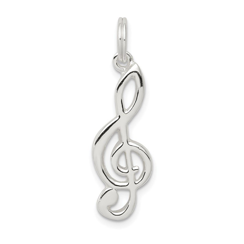 Quality Gold Sterling Silver Music Note Charm