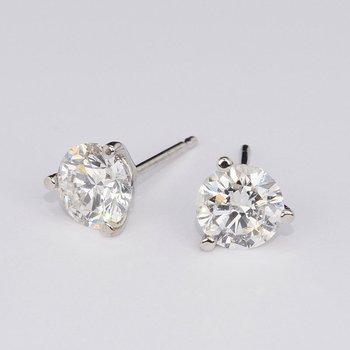 3583204e3 GN Diamond: 4.03 Cttw. Diamond Stud Earrings