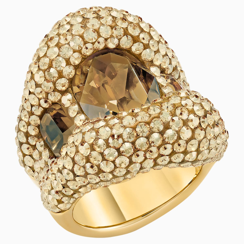 Swarovski Tigris Cocktail Ring, Gold tone, Gold-tone plated