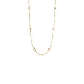 18KT GOLD 10 STATION DIAMOND NECKLACE