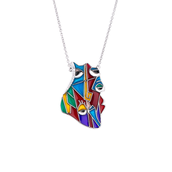 Abstract Eyes Necklace