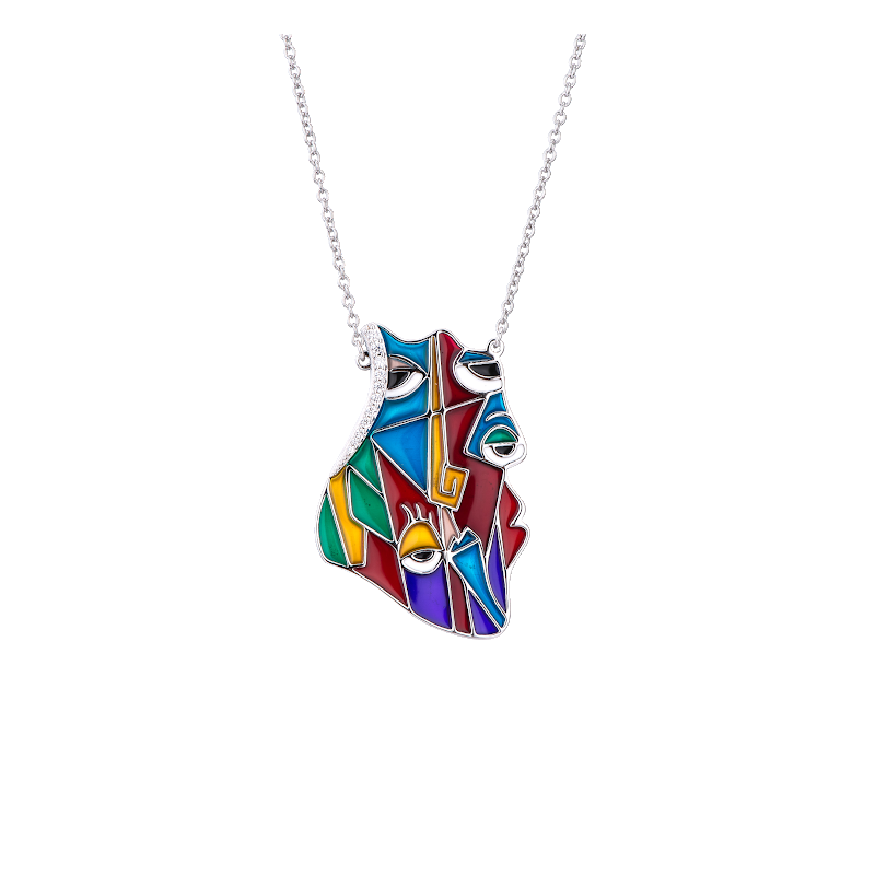 LARUS Jewelry Abstract Eyes Necklace