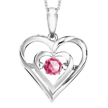 Silver Pink Tour Rhythm Of Love Pendant
