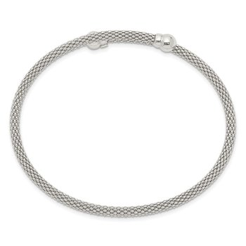 Sterling Silver Textured Flexible Bangle