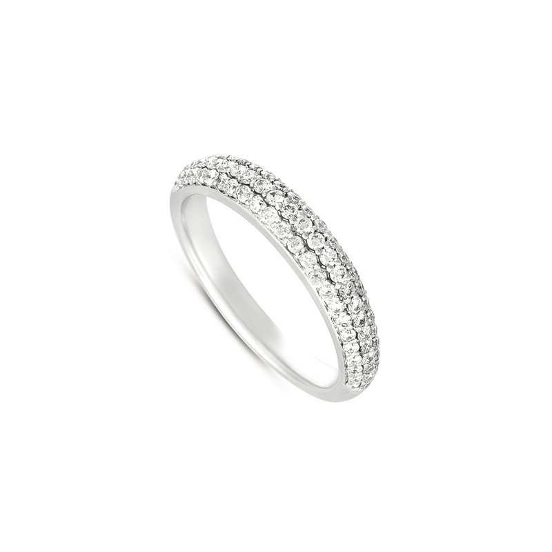 MAZZARESE Bridal White Gold Pave Band