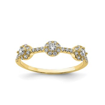 10K CZ Stackable Ring