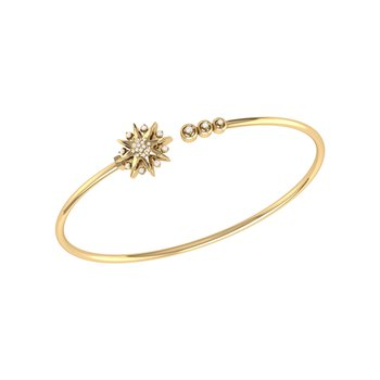 Supernova Cuff in 14 KT Yellow Gold Vermeil on Sterling Silver