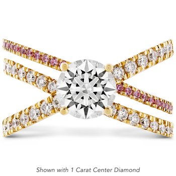 0.44 ctw. Harley Wrap Engagement Ring with Sapphires