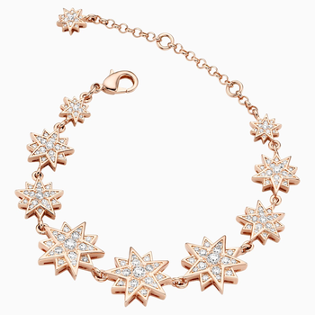 Penélope Cruz Moonsun Bracelet, Limited Edition, White, Rose-gold tone plated