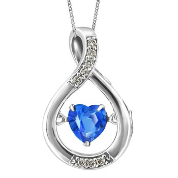 Honey Swirl: Swarovski Gemstone (Genuine Topaz) Pendant