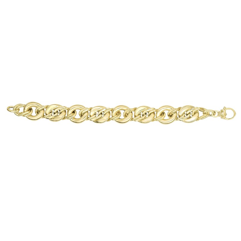 Royal Chain 14K Gold Large Oval Heritage Link Bracelet