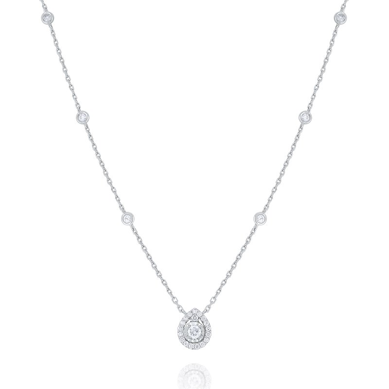KC Designs Round Halo Diamond Pendant Set in 14 Kt. Gold