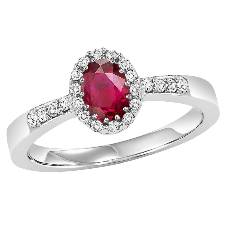 Gemsone 14K Ruby & Diamond Ring