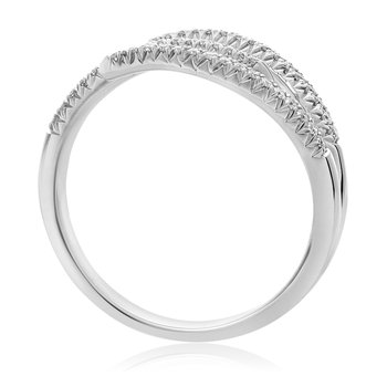 Staggered White Diamond Ring