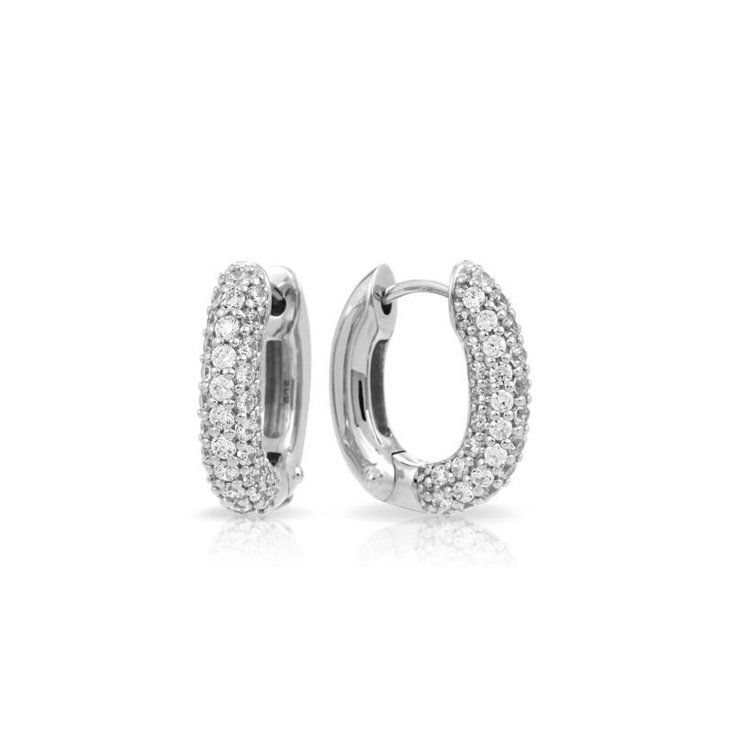 Belle Etoile Pave Hoops