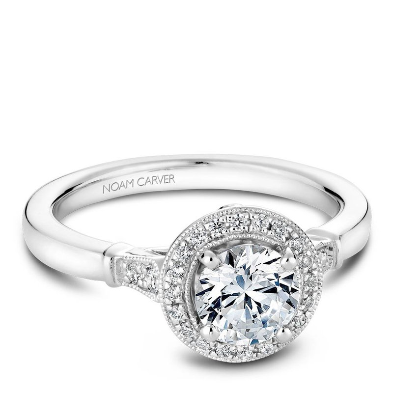 Noam Carver Vintage Engagement Ring B077-01A