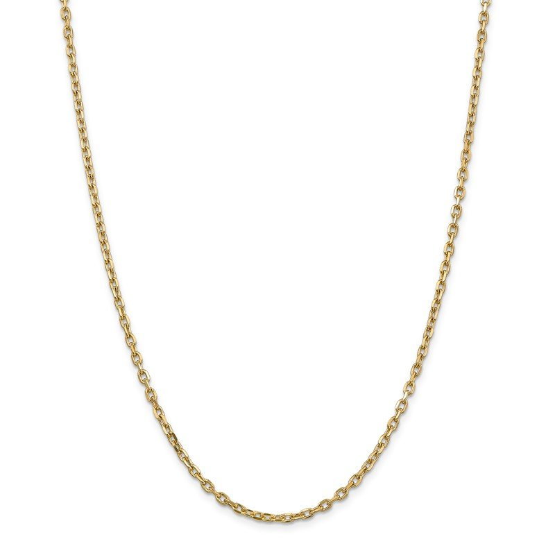 Quality Gold 14k 3mm D/C Round Open Link Cable Chain