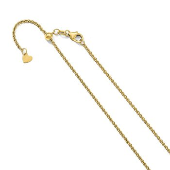 Leslie's 14K 1.6 mm Round Cable Adjustable Chain