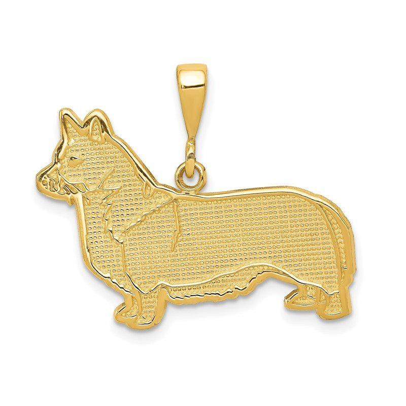 Quality Gold 14k Welsh Corgi Pendant