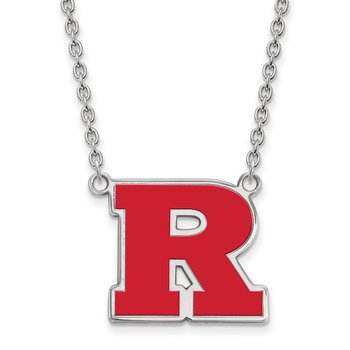 Sterling Silver Rutgers University NCAA Necklace