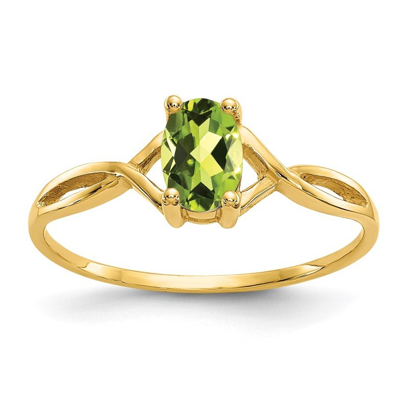 Quality Gold 14k Peridot Birthstone Ring