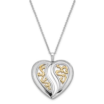 Sterling Silver & Gold-plated Just Perfect 18in. Necklace