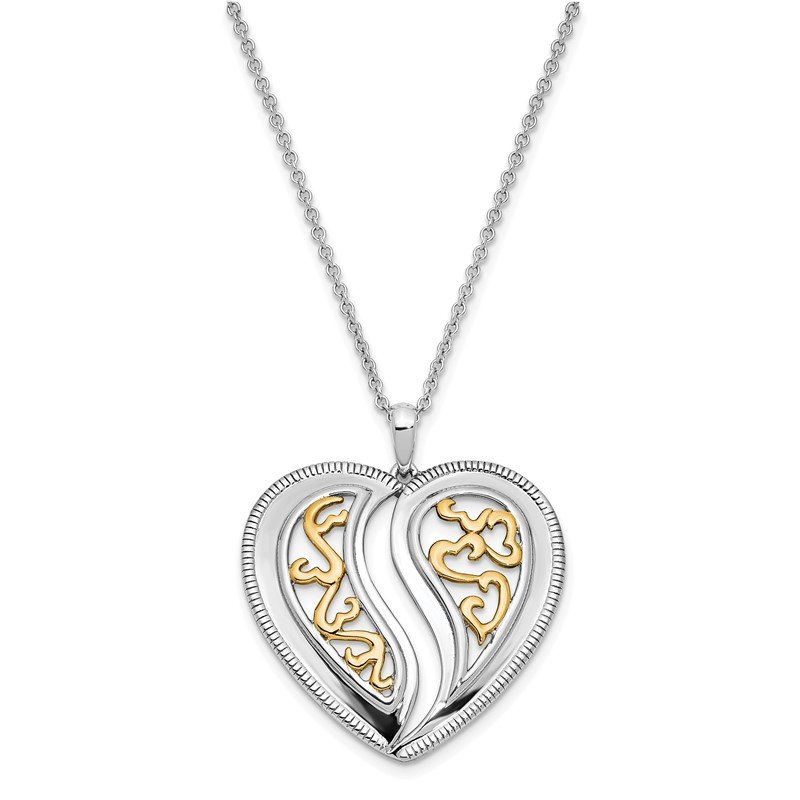 Quality Gold Sterling Silver & Gold-plated Just Perfect 18in. Necklace