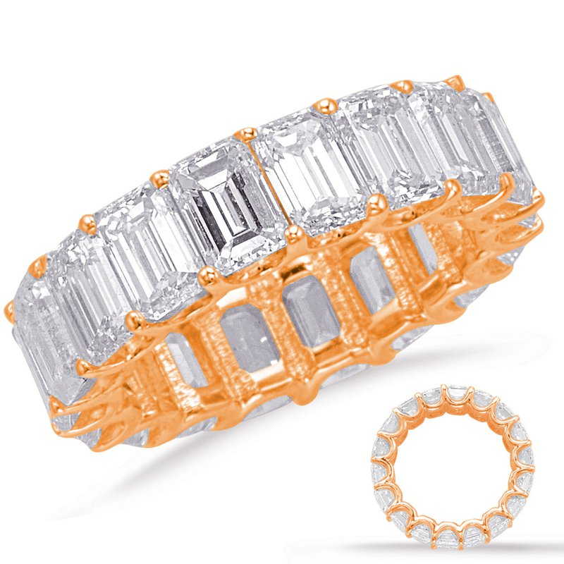 S. Kashi & Sons Bridal Emerald Cut Eternity Band (4.3mm)