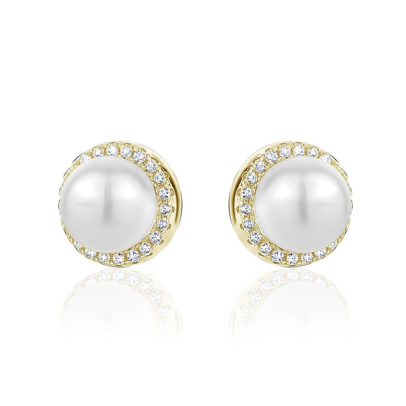 LARUS Jewelry Pearl Stud Earrings