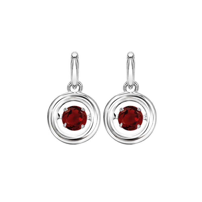 Rhythm of Love Silver Garnet Rhythm Of Love Earrings