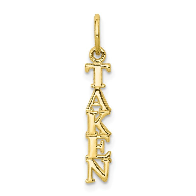Quality Gold 10k Talking - TAKEN Charm