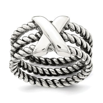 Sterling Silver Oxidized Ring
