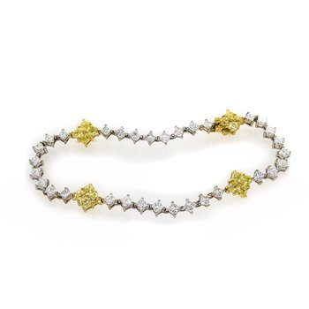 YELLOW AND WHITE DIAMOND BRACELET