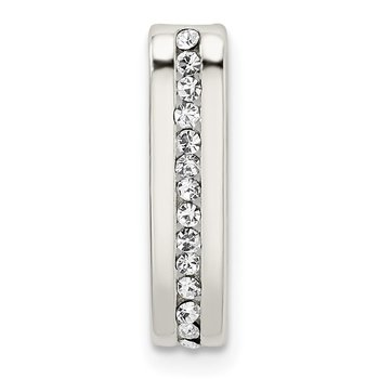 Sterling Silver Crystal Chain Slide Pendant