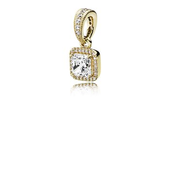 Timeless Elegance, 14K Gold Clear Cz