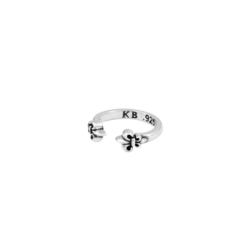 King Baby Open End Fleur De Lis Ring