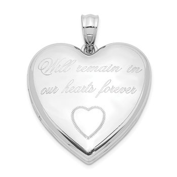 Sterling Silver Rhodium-plated Remain In Our.. Ash Holder Heart Locket
