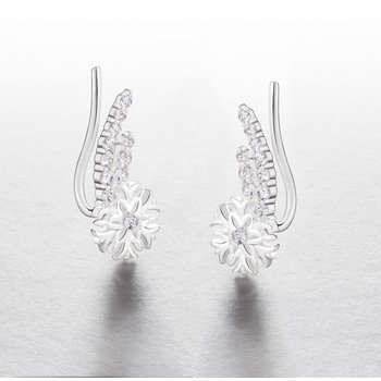 Snowflake Climber Earrings