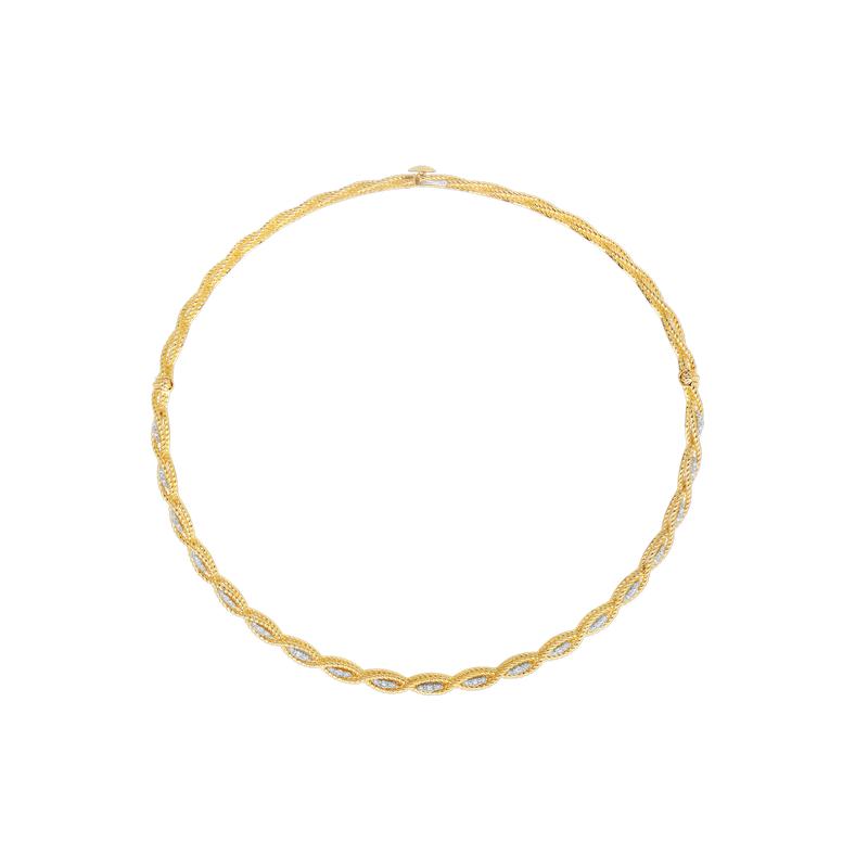 Roberto Coin Collar With Diamonds &Ndash; 18K Yellow Gold